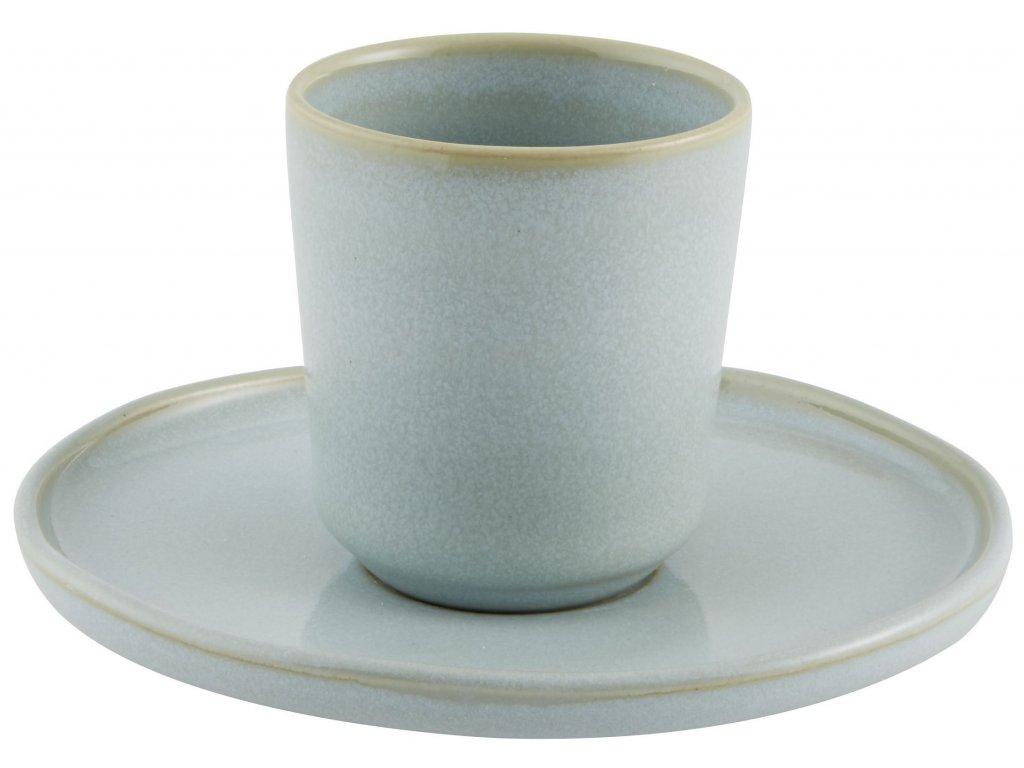 Casa Alegre Terra Azul Espresso šálek bez ucha s podšálkem