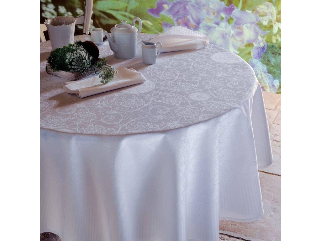 Garnier Thiebaut APPOLINE White Metrový textil / látka šíře 240 cm
