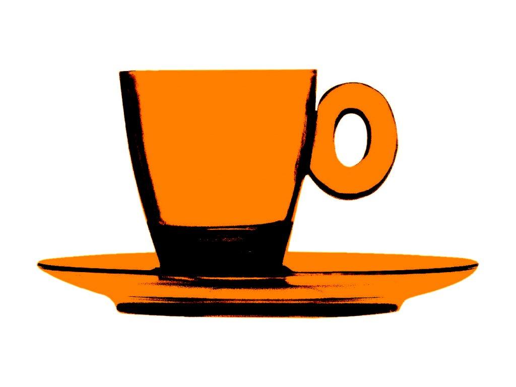 POLYCARBONATO Šálek na espresso s podšálkem, Mepra