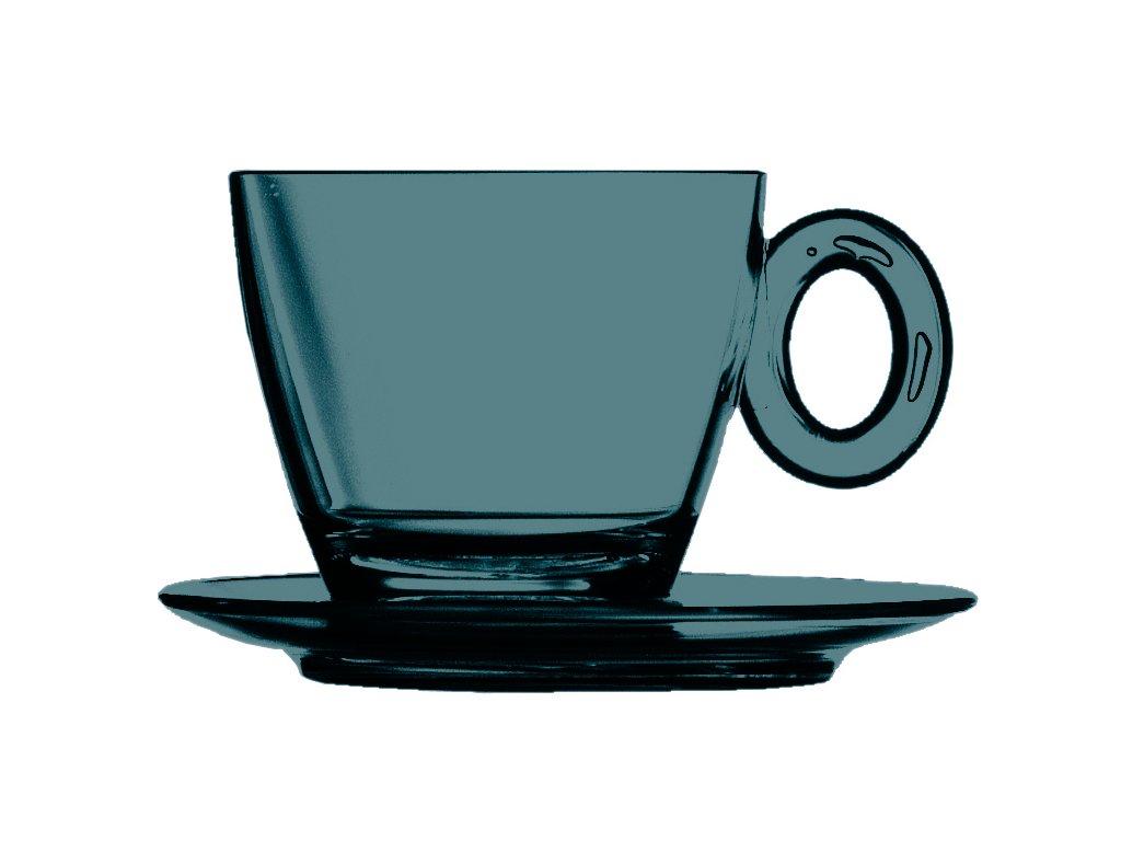 POLYCARBONATO Šálek na čaj a cappuccino s podšálkem, Mepra