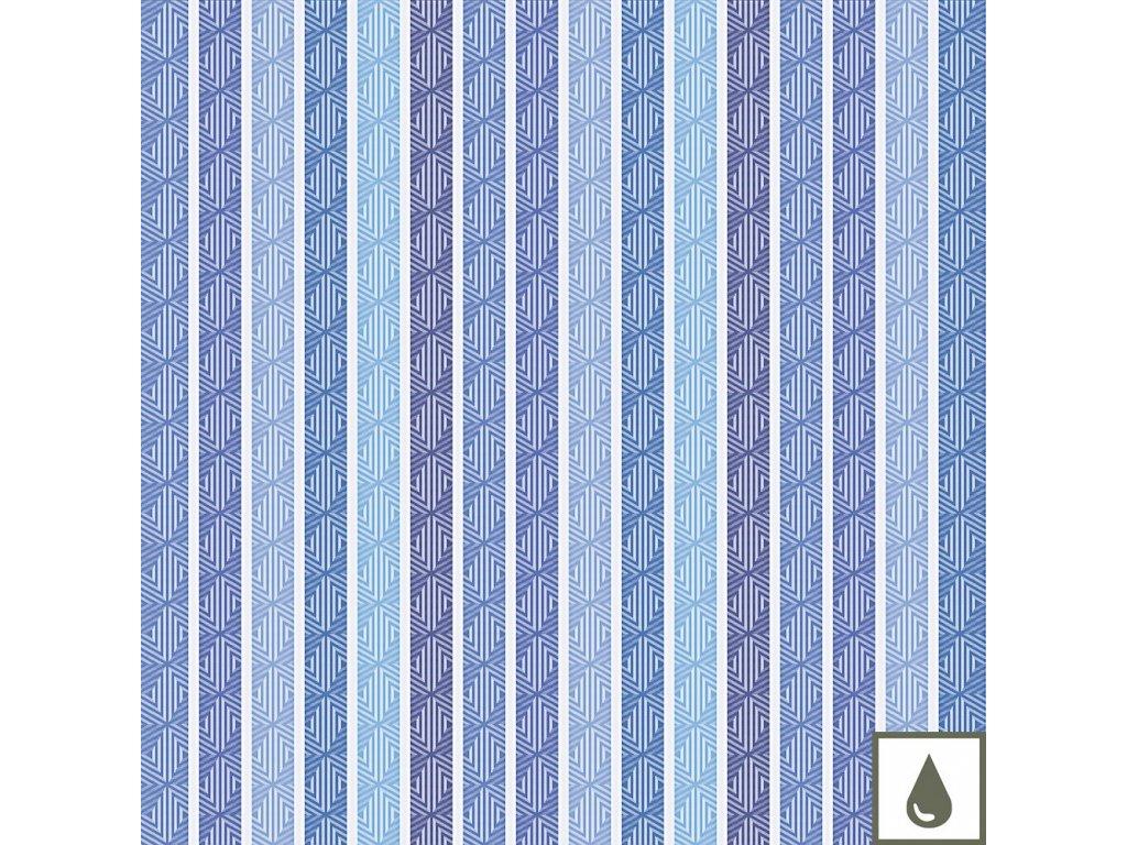 MILLE ZIGZAG Aqua Metrový textil / látka šíře 155 cm