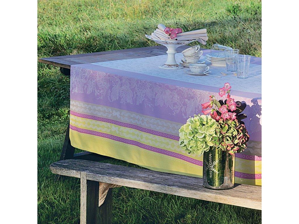 RIBAMBELLE (linéaire) Citronnade Metrový textil / látka šíře 185 cm