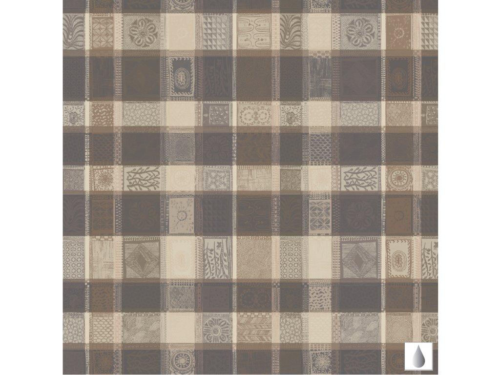 MILLE WAX Argile Metrový textil / látka šíře 180 cm