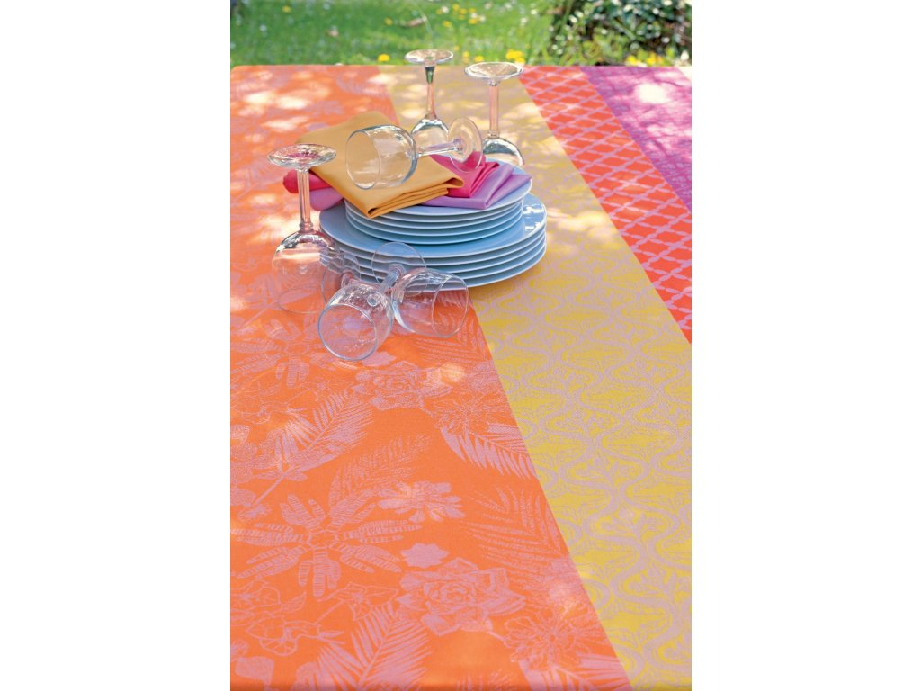 MILLE OASIS Flamingo Metrový textil / látka šíře 155 cm