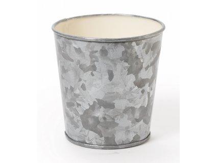 GET Galvanized Serveware Pozinkovaná nádoba na hranolky, šikmá hrana