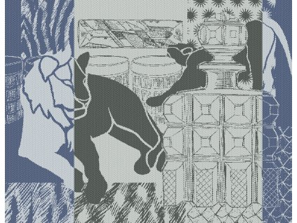 SAFARI LOUNGE Bleu Prostírka 45 x 35 cm KONČÍ!!!