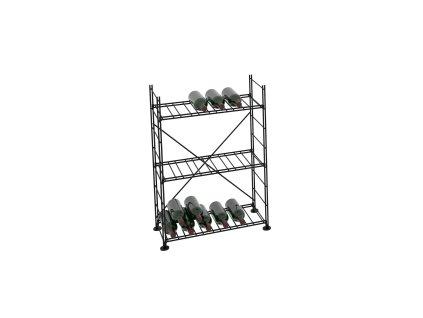 Základní regál na víno 90x63x33 cm 1 modul, L' Atelier du Vin