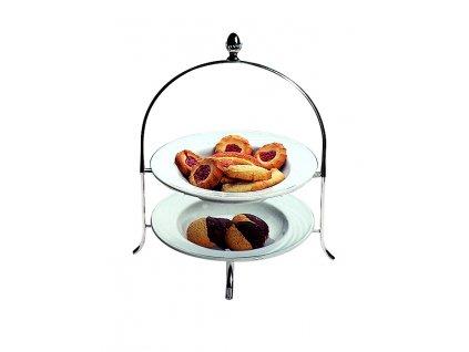 Palace Etažér na 2 dezertní talíře, výška 35 cm, průměr 22 cm, Mepra