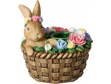 Villeroy & Boch Bunny Tales Svícen Zajíc v košíku