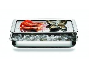 Palace Bufetový chladič na mořské plody, výška 9 cm, 53x32,9 cm, Mepra