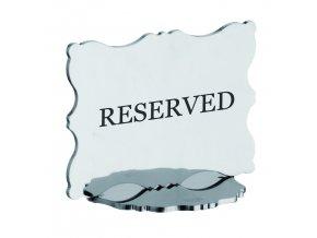 DOLCE VITA Stojan s nápisem Reserved nebo číslem stolu 10X7 cm, Mepra