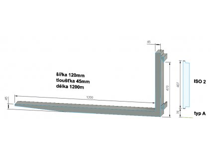 vidlice ISO 2A 120x45x1200mm