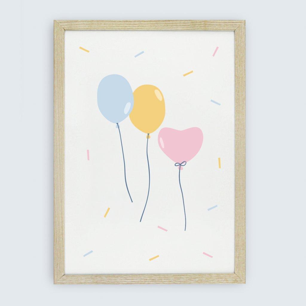 obraz oslava balonky