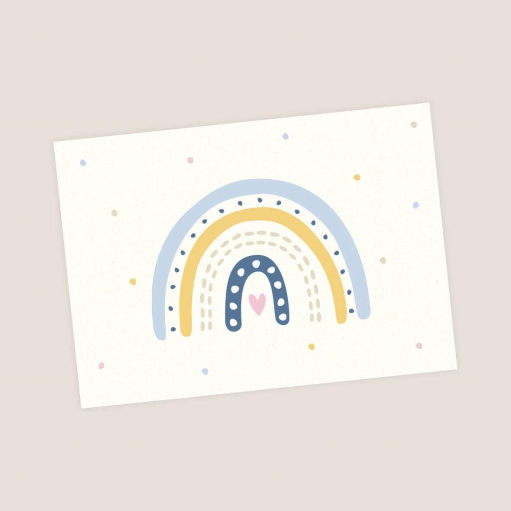 pohlednice duha