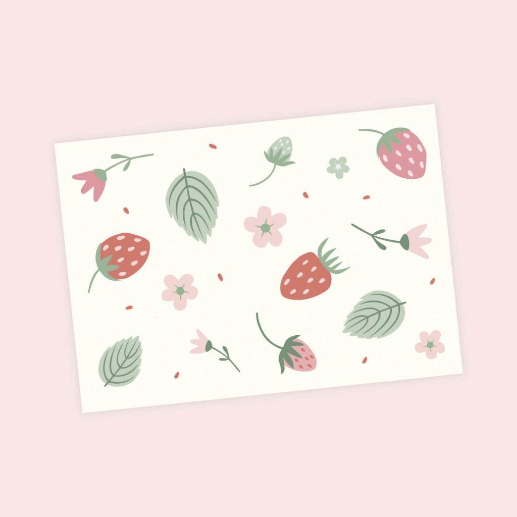 pohlednice jahody
