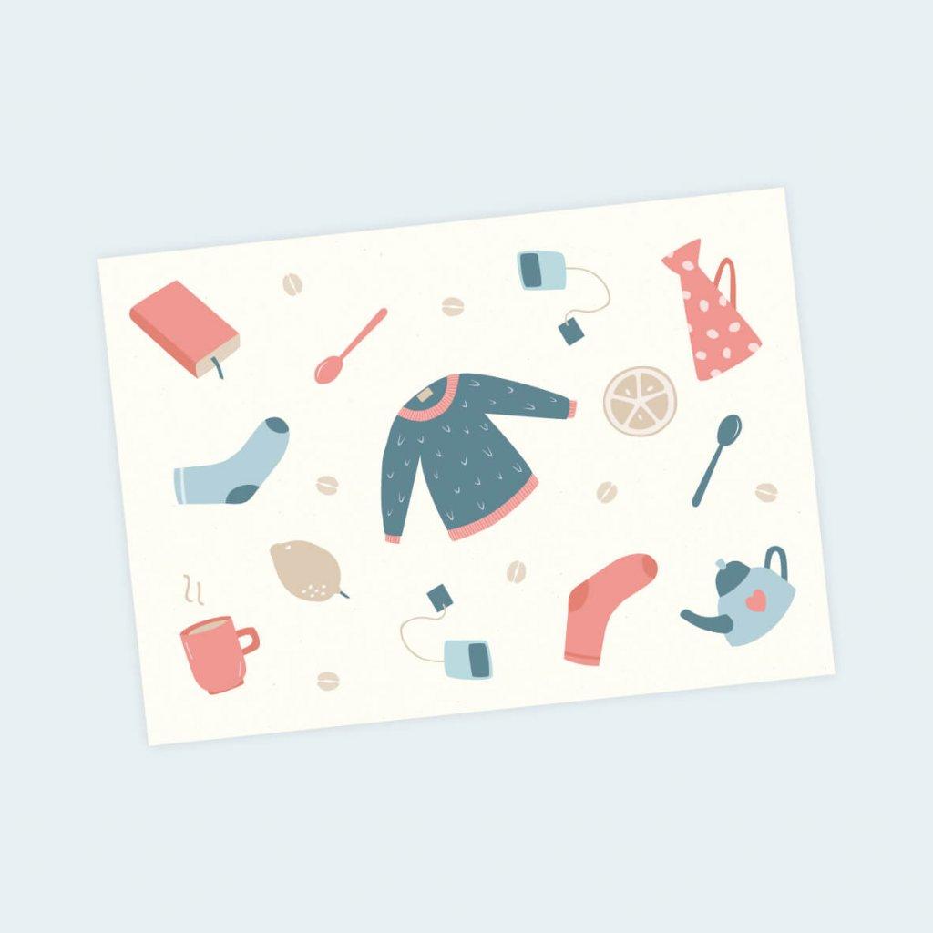 pohlednice hygge