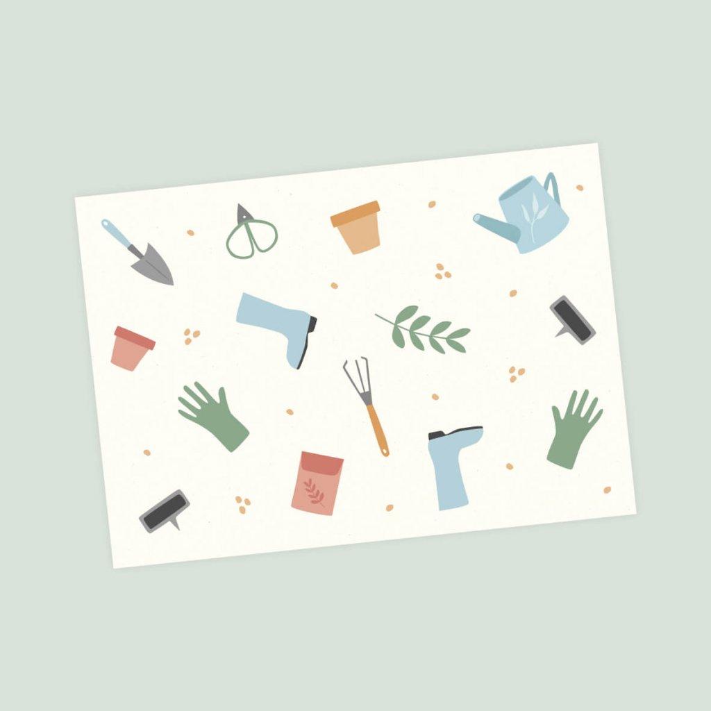 pohlednice zahrada