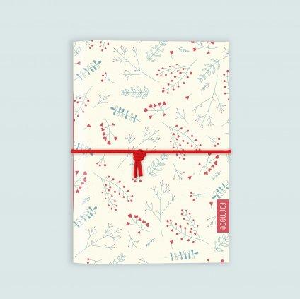 zápisník červená louka