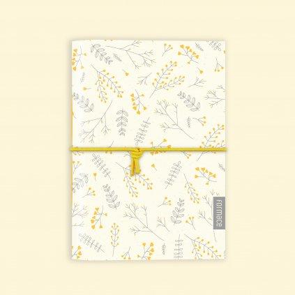 zápisník žlutá louka