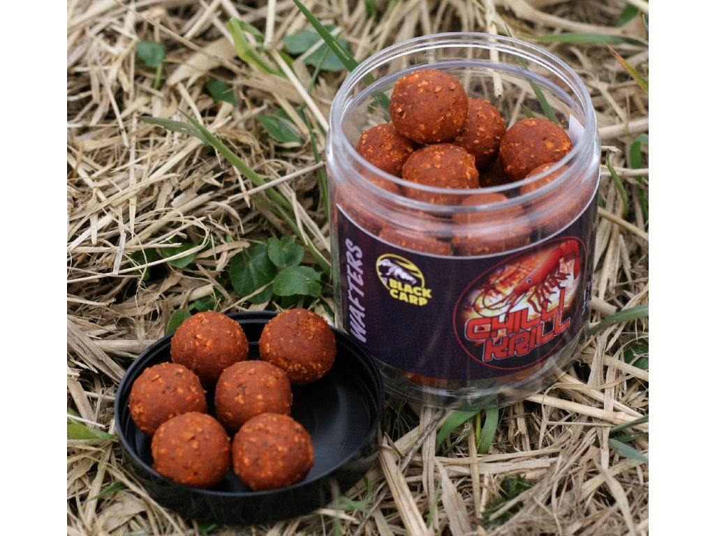 BLACK CARP CHILLI - KRILL - WAFTERS BOILIES 20 mm 130 g