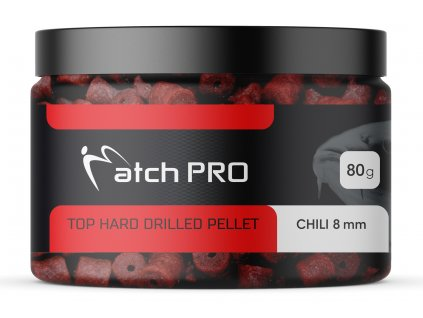 TOP HARD CHILI 8mm DRILLED Pellet MatchPro 80g