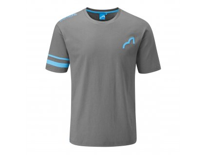 spotted fin mens tshirt grey front