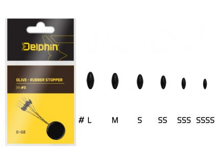 delphin Olive Rubber stopper