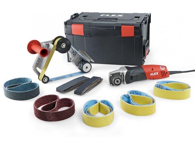 BRE 14-3 125 Set Bruska na pásové broušení trubek TRINOXFLEX v sadě  + Sleva 10% na produkty FLEX + 3 roky záruka + Kufr a příslušenství v ceně
