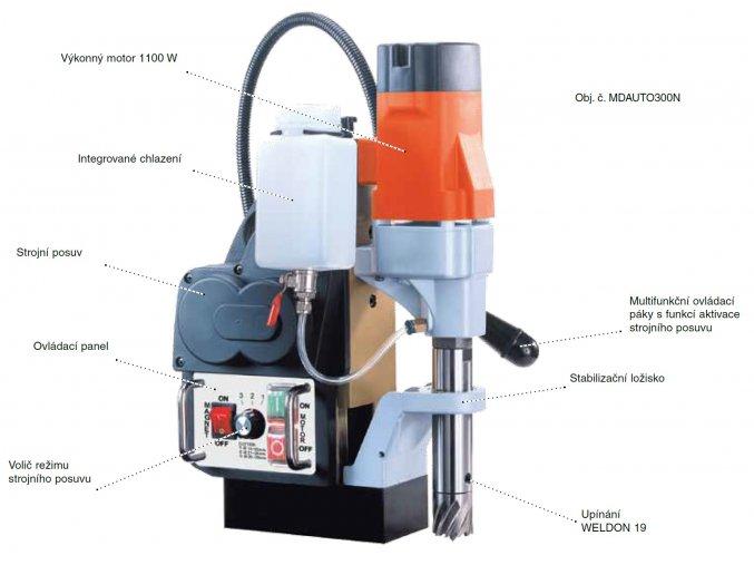 Automatická magnetická vrtačka MD AUTO 300N