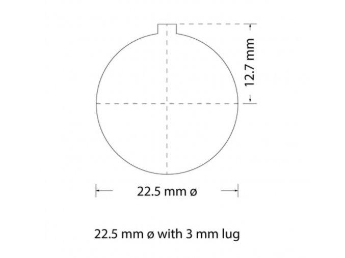 Děrovací nástroj Ø 22,5mm s drážkou 3mm