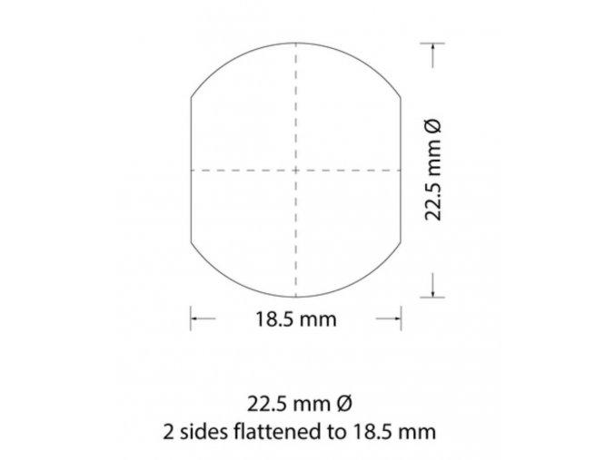 Děrovací nástroj Ø 22,5 zploštění na 18,5mm