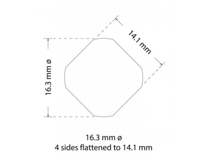 Děrovací nástroj Ø 16,3 zploštění na 14,1 mm