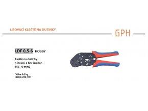 Kleště na dutinky lisovací GPH LDF 0,5-6, průřez 0,5-6mm2
