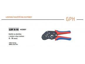 Kleště na dutinky lisovací GPH LDF 6-16, průřez 6-16mm2