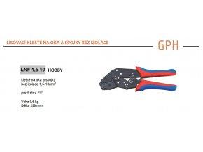 Kleště lisovací GPH LNF 1,5-10 na oka a spojky bez izolace, průřez 1,5-10mm2