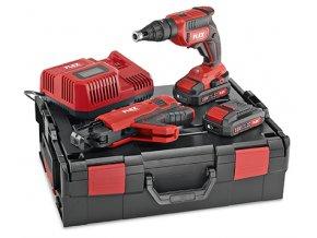 DW 45 18.0-EC M/2.5 Set AKU stavební šroubovák 18V set se zásobníkem na páskované šrouby  + Sleva 10% na produkty FLEX + 3 roky záruka + Kufr v ceně + 2 akumulátory a nabíječka v ceně