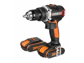 WORX WX175 Aku vrtačka 20V, 2x 2,0 Ah  + 2x Akumulátor 20V v ceně + 3 roky záruka