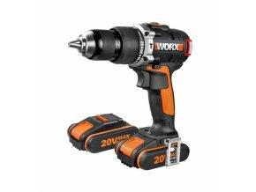 WORX WX373 Aku vrtačka s příklepem 20V, 2x 2,0Ah  + 2x Akumulátor 20V v ceně + 3 roky záruka