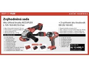Akční sada FLEX L 125 18.0-EC/5.0 Set AKU-Úhlová bruska + DD 2G 18.0-EC  2-Rychlostní AKU-šroubovák