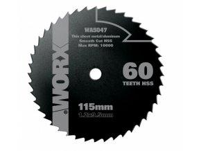 WA5047 - Kotouč na dřevo/kov 115 x 9,5 pro WX427