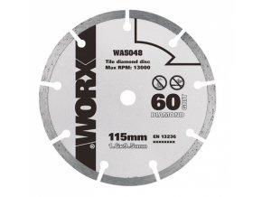 WA5048 - Diamantový kotouč 115 x 9,5 pro WX427