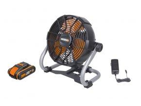 WX095 Aku ventilátor 20V, 242mm, 1x2.0Ah - Powershare