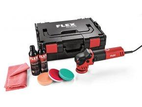 XFE 7-12 80 P-Set Excentrická leštička na malé plochy  + Sleva 10% na produkty FLEX + 3 roky záruka + Příslušenství a kufr v ceně