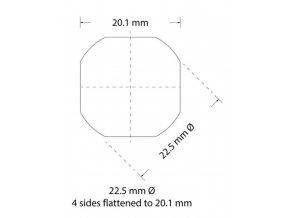 Děrovací nástroj Ø 22,5 zploštění na 20,1 mm