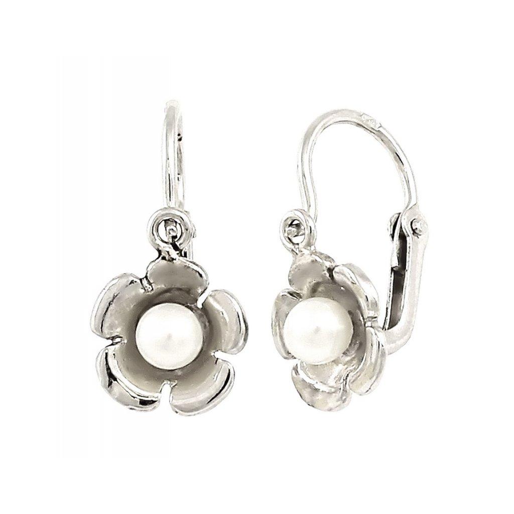 Zlaté detské perlové náušnice 2373/B/Px