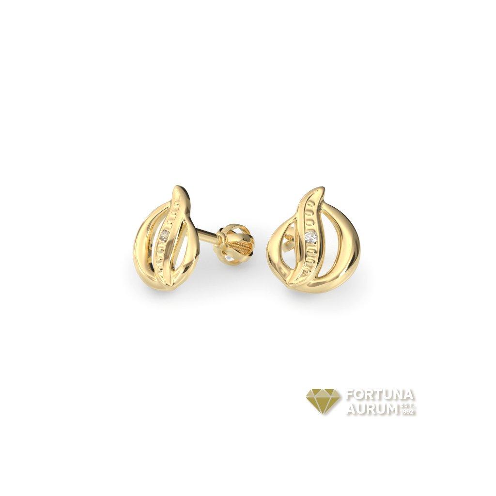 lacné zlaté náušnice 2345