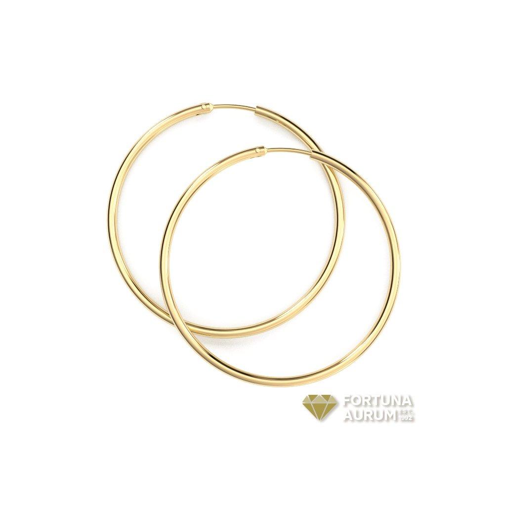 klasické zlaté kruhy