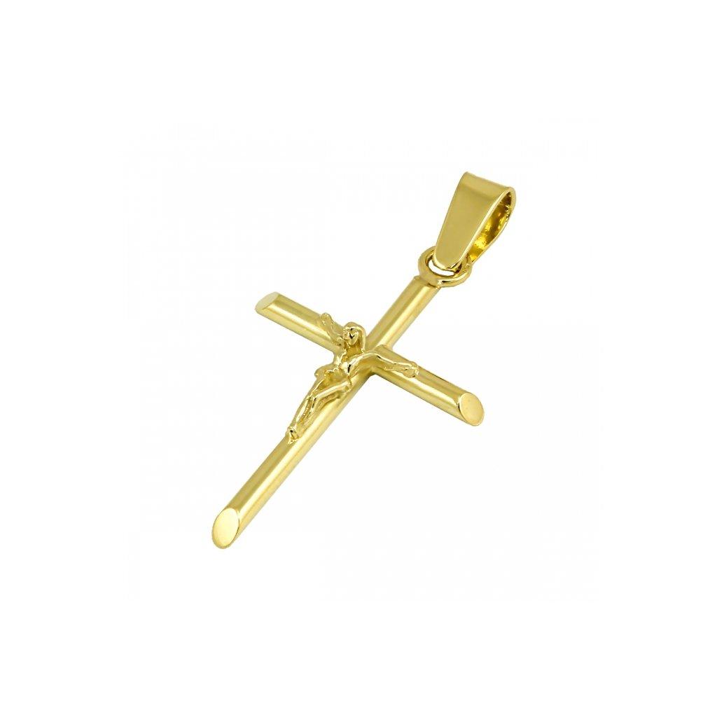 Privesok zo žltého zlata križik s ježiškom 2426Z