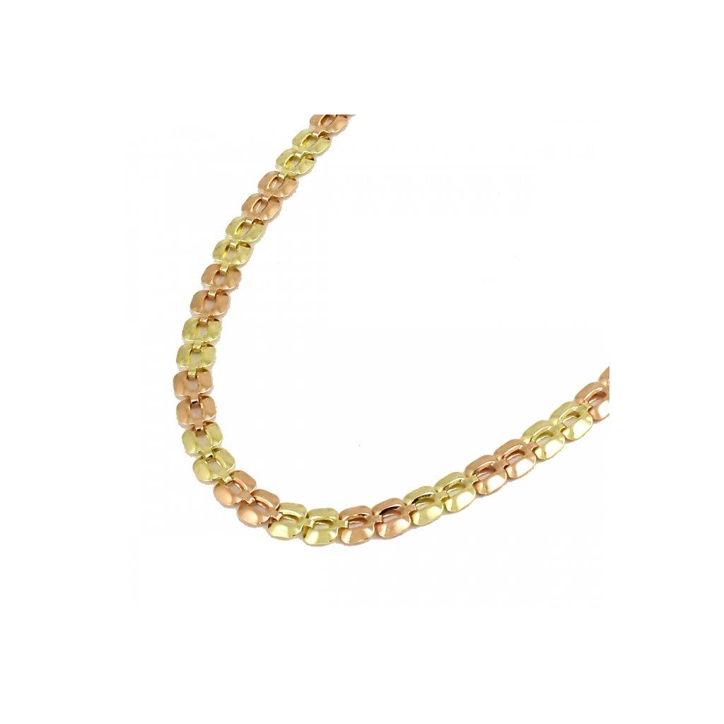 Dámska retiazka zo žlto červeneho zlata 26427ZC