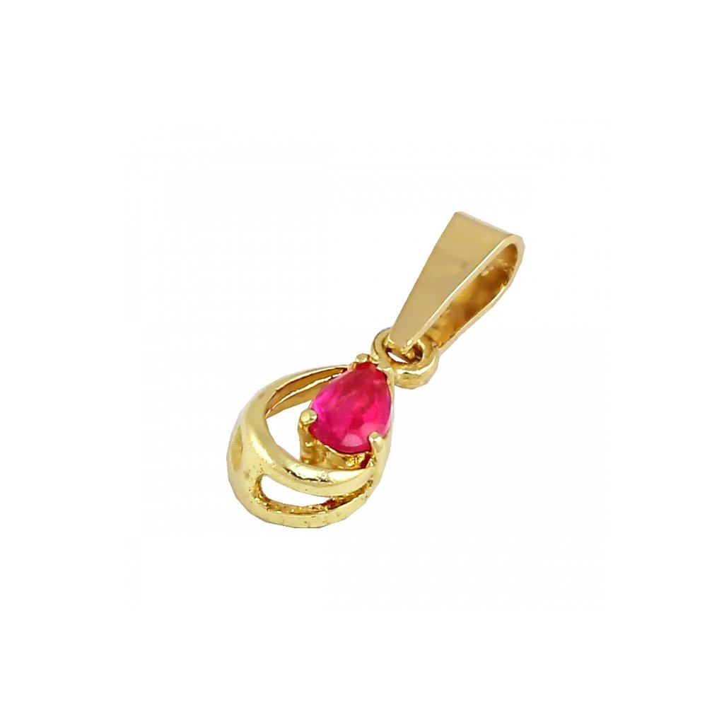 Zlatý privesok s rubínom 2447ZC